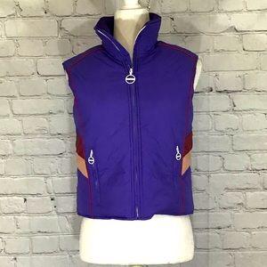 True torn Purple Puffer Vest Excellent Condition